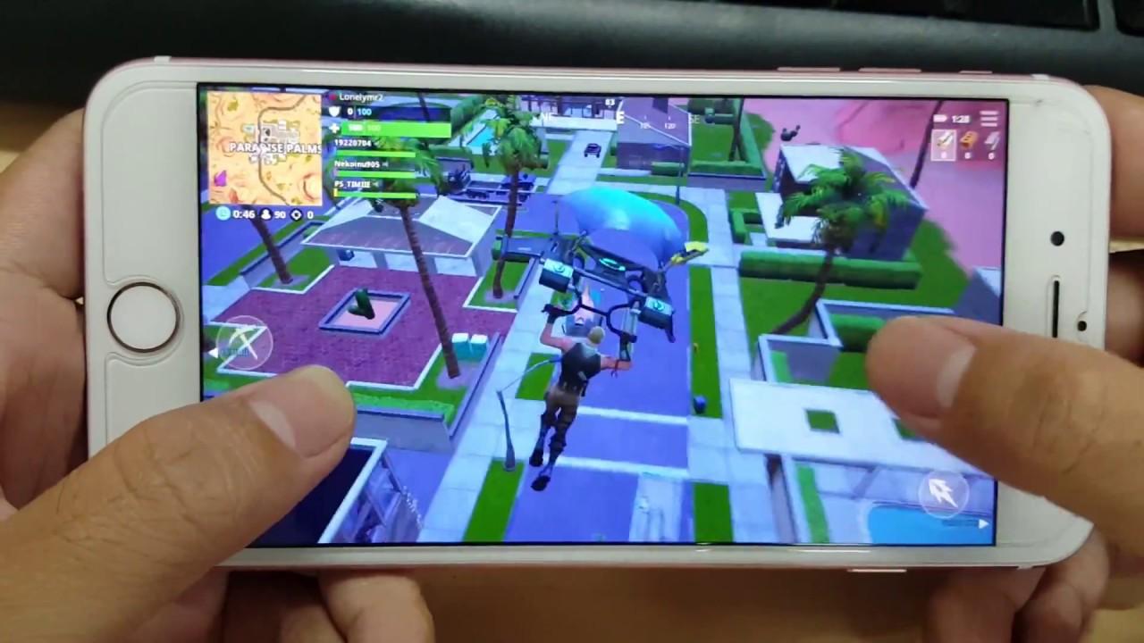 sale retailer 3bdbb 0acc7 Test Game Fortnite Mobile on iPhone 7 Plus