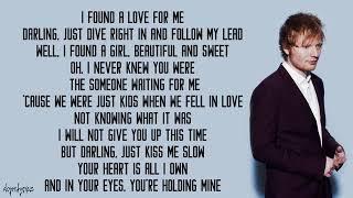 Ed Sheeran - prefect lyrics