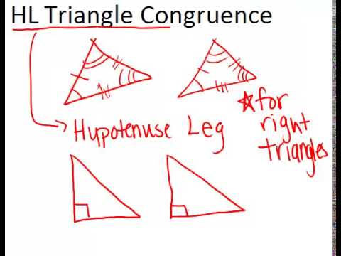 Hl Triangle Congruence Lesson Geometry Concepts