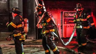 [ Manhattan 2nd Alarm Box 797 ] Multiple Cars on Fire in Times Square Parking Garage