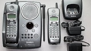 Uniden TRU-448 2.4 GHz 2 x Phone and Digital Answering System