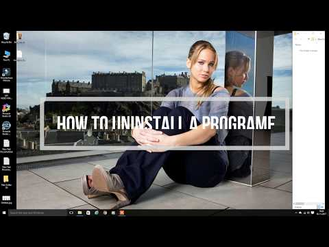 How to uninstall a programme in Windows 10