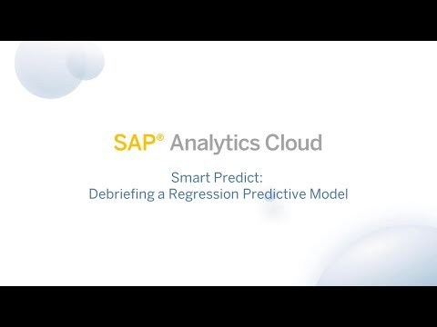 Smart Predict: Debriefing a Regression Predictive Model