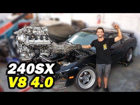 MI 240SX YA TIENE EL NUEVO MOTOR V8 !!