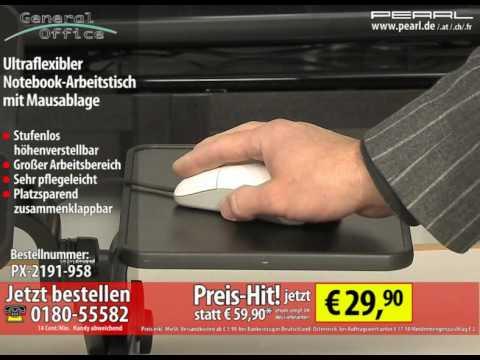 General Office Ultraflexibler Notebook-Arbeitstisch mit Mausablage