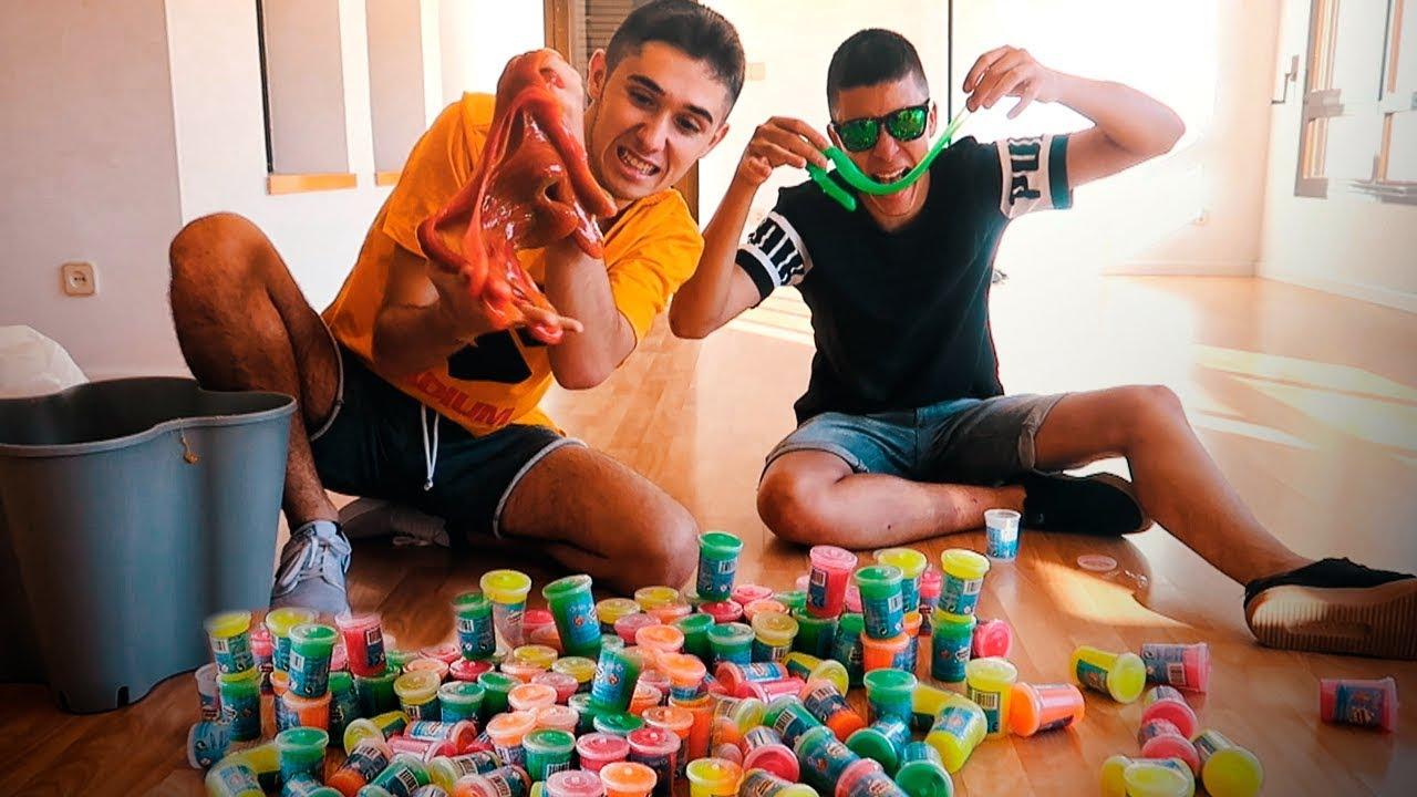mezclamos-100-cubos-tirapedos-y-creamos-la-masa-gigante-ms-flexible-del-mundo-shooter