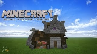 Minecraft Let s Build SMALL FANTASY HOUSE WITH ANIMAL PEN YouTube