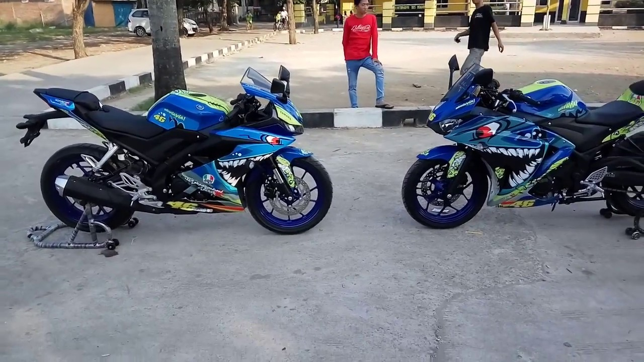 Decal r15 v3 vs r25 shark by nusakambangan sticker