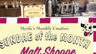 Malt Shoppe: Myrtle's Monthly Creation For September At Fentons Creamery