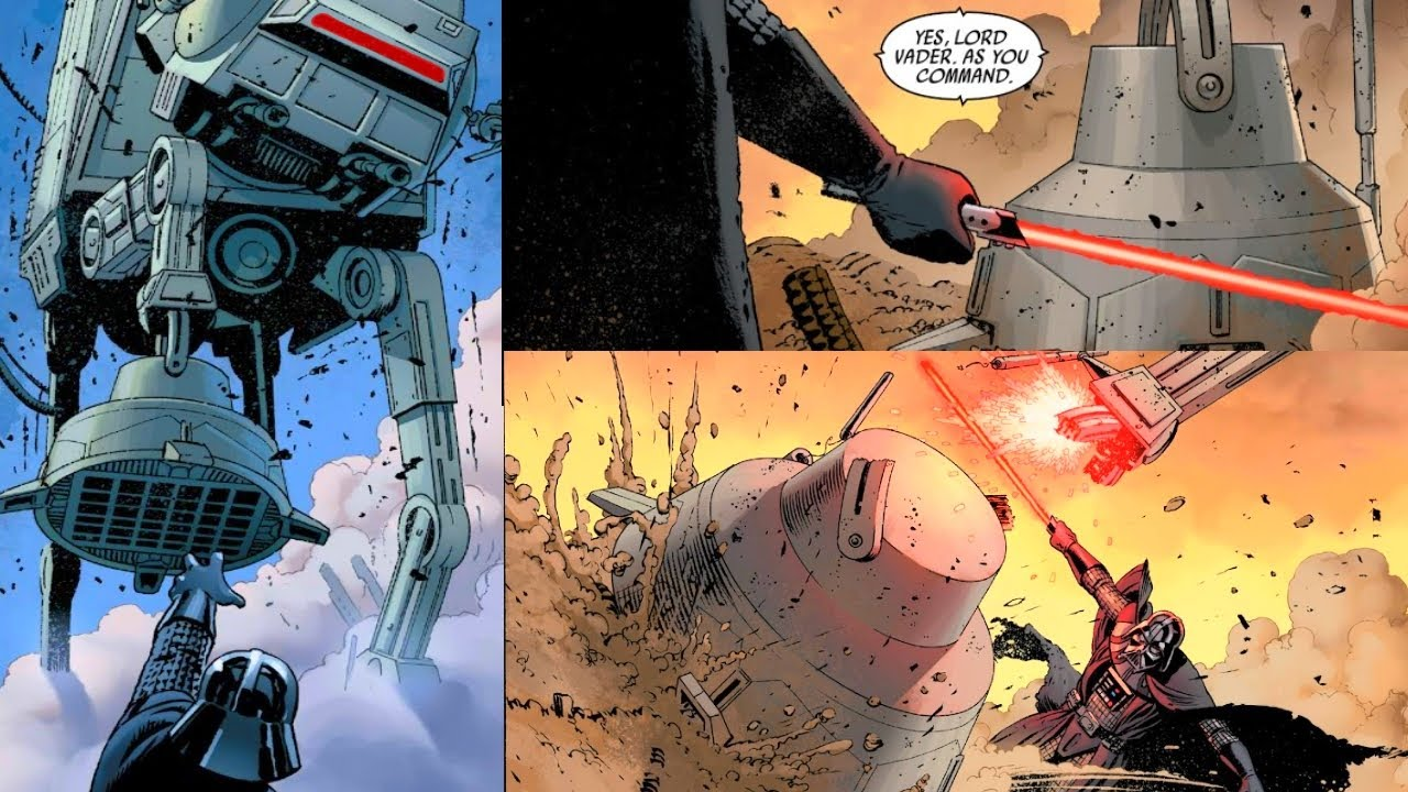 When Darth Vader Sliced the Legs off an AT-AT Walker(Canon) - Star Wars Comics Explained