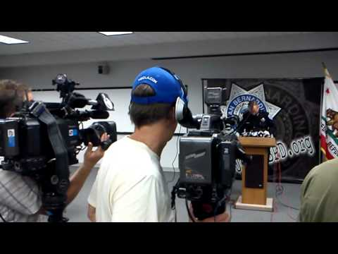 San Bernardino Police Department press conference on imapct of city's bankruptcy