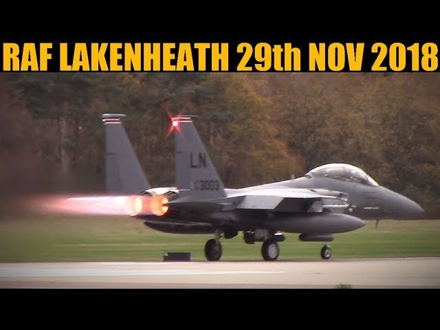 RAF Lakenheath: F-15E Mudhens & KC-135 29th Nov 2018