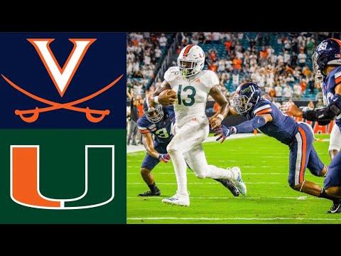 #20 Virginia Vs Miami Highlights    NCAAF Week 7   College Football Highlights