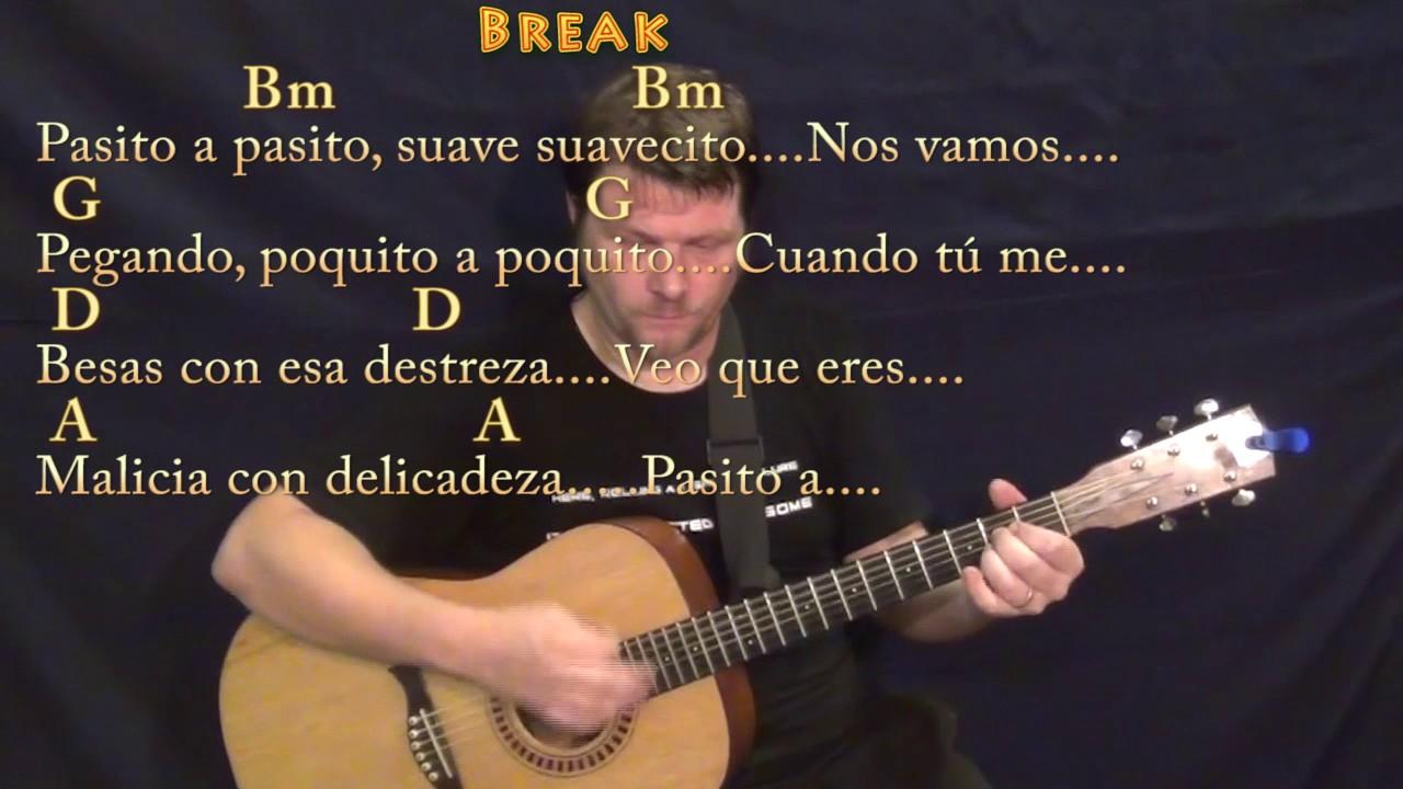 Despacito Luis Fonsijustin Bieber Guitar Lesson Chord Chart In Bm