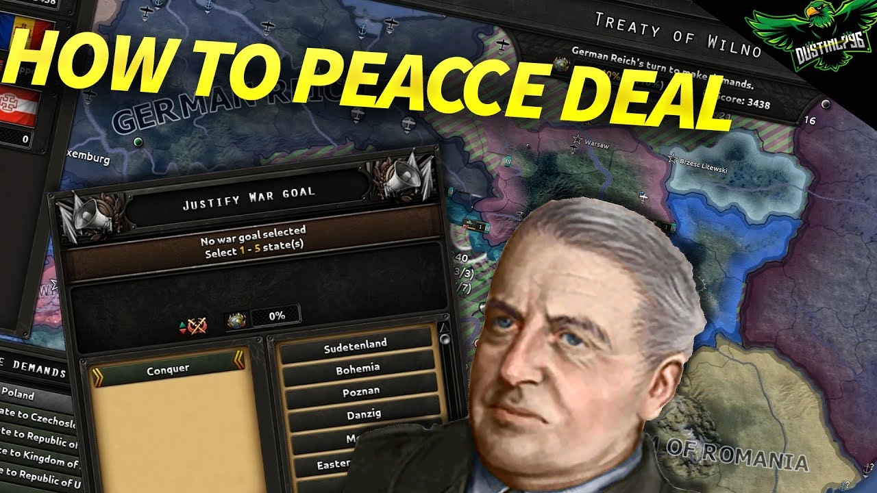 HOI4 How to do Peace Deals (Hearts of iron 4 tutorial)