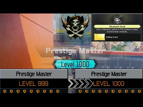 NUKED OUT WHILE UNLOCKING LEVEL 1000 - (UNLOCKING Level 1000 Master Prestige!)