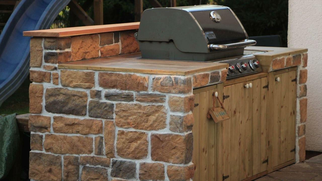 Outdoor Küche Kugelgrill : Weber grill in outdoor küche integrieren weber grill gasgrill