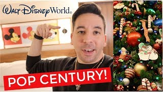 TRAVEL VLOG: Christmas Decorations at Disney's Pop Century Resort!