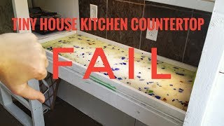 Tiny House Kitchen Countertop Fail//drone Footage