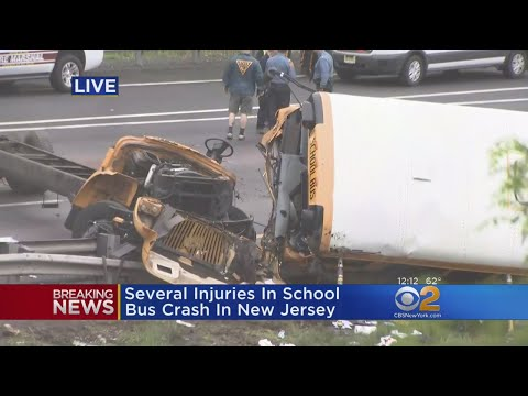 Extensive Injuries Reported After School Bus, Dump Truck Collide In New Jersey