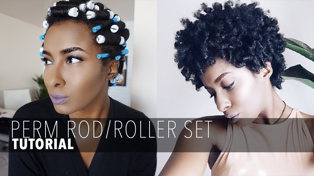 Roller Set Short Natural Hair Youtube