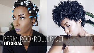 One of Ambrosia Malbrough's most viewed videos: PERM ROD/ROLLER SET ON SHORT NATURAL HAIR