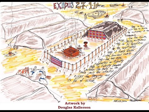 Exodus 27:9-21 (The Courtyard of the Tabernacle)