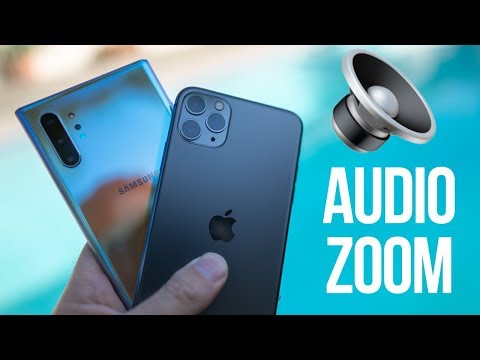 iPhone 11 Audio Zoom Annihilates Note 10+ Zoom-In Mic