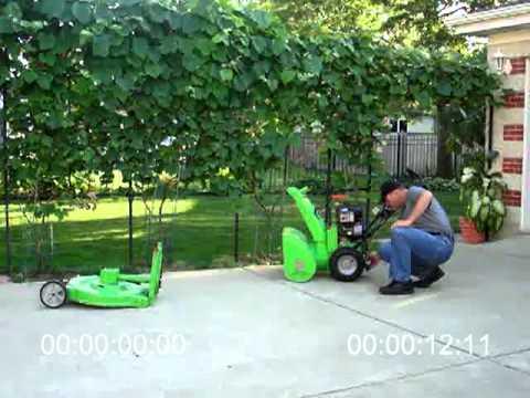 Best Lawncombine Snowblower Lawnmower Combo Youtube