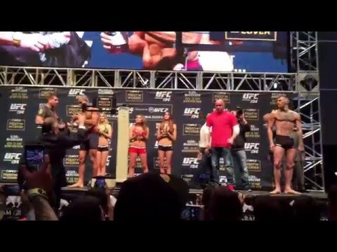 UFC 194: Jose Aldo Vs Conor McGregor Weigh-In