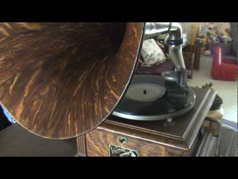 """THEY START THE VICTROLA"" 1914 BILLY MURRAY Victor 78rpm Record Played On Victor III Phonograph"
