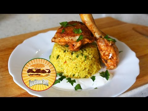 Лимонная курица с рисом карри / Lemon chicken with curry rice