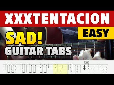 How to play XXXTENTACION – SAD! on GUITAR (fingerstyle guitar cover with TABS)