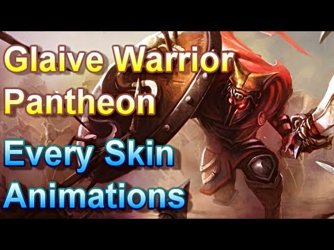 Glaive Warrior Pantheon - Every Skin Animations - League of Legends