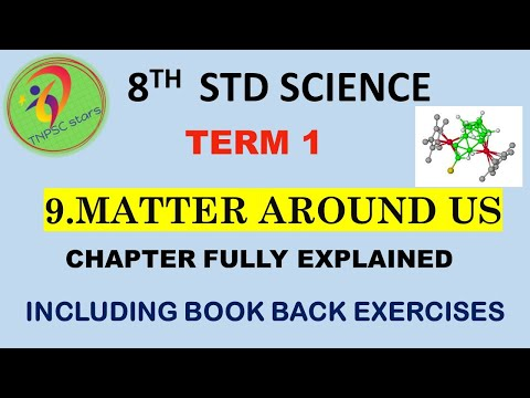 8th Std|Science|Matter Around Us|unit 9|TERM 1|with Book Back