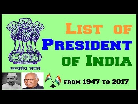 Presidents of India From 1947 to 2017