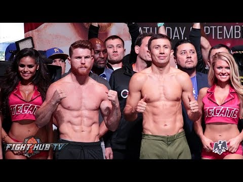 FULL & UNCUT - CANELO ALVAREZ VS. GENNADY GOLOVKIN WEIGH IN AND FACE OFF VIDEO