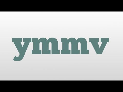ymmv meaning and pronunciation