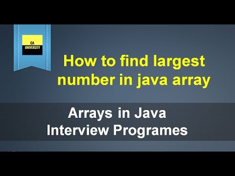how-to-find-largest-number-in-an-array- -java-interview-question-and-answers