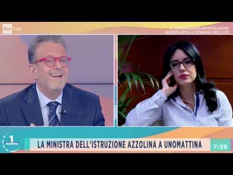 Lucia Azzolina ospite a Unomattina Rai1 14-09-2020