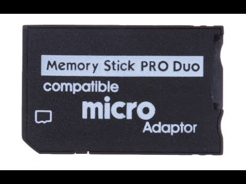 micro sd to ms pro duo card adapter for psp youtube