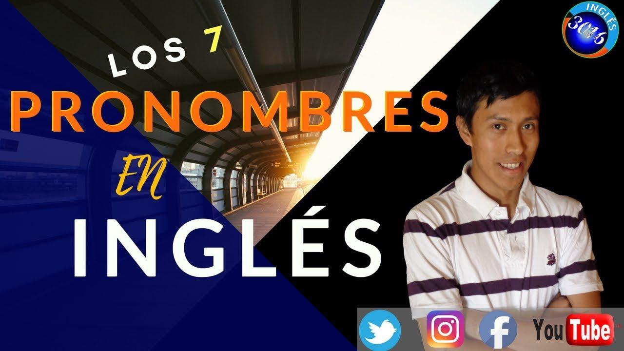 LOS PRONOMBRES EN INGLES 😀😄🙂 Aprende los Personal Pronouns hoy con este curso de inglés gratis