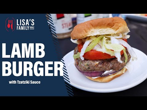 How to grill Lamb Burgers and make Tzatziki Sauce