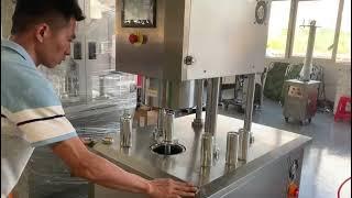 진공 반자동 씰링 기계, 단일 헤드 알루미늄 캔 씰링 …
