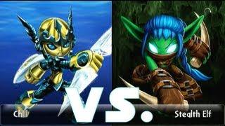 Skylanders Giants Legendary Lightcore Chill (15) vs. Stealth Elf (15) (German/Deutsch)