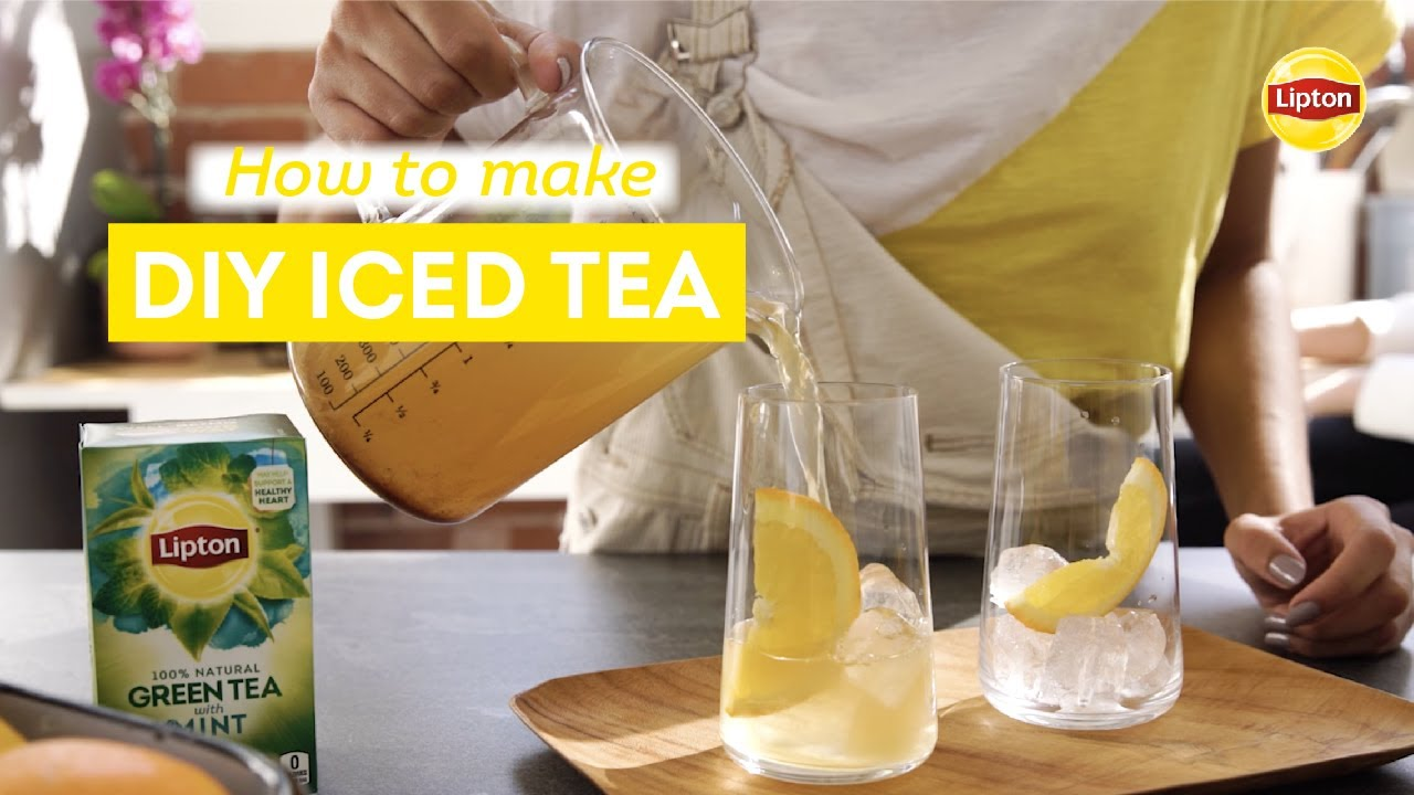 Recipe For Lipton Diy Iced Tea Youtube