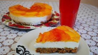 Торт без выпечки за 30 минут ВКУСНЫЙ десерт с персиками Легкий быстрый простой рецепт