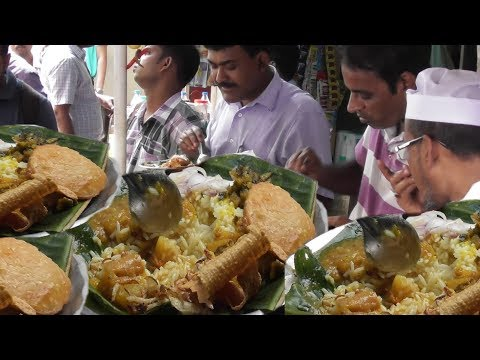 Office Time Lunch in Kolkata Street   Garam Rice with Vegetables   People are Crazy to Eat