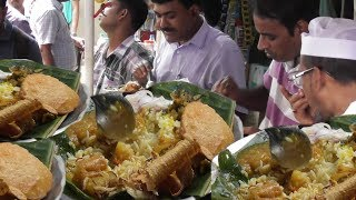 Office Time Lunch in Kolkata Street | Garam Rice with Vegetables | People are Crazy to Eat