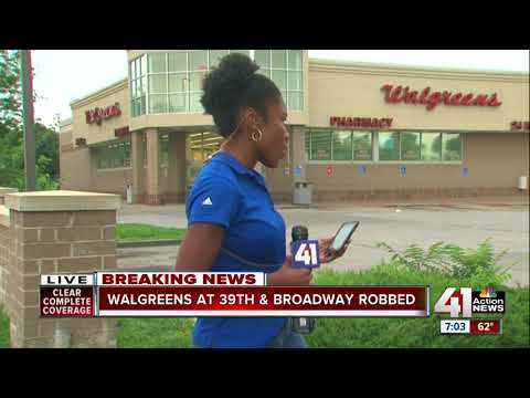 KCPD investigating armed robbery at Walgreens on Broadway